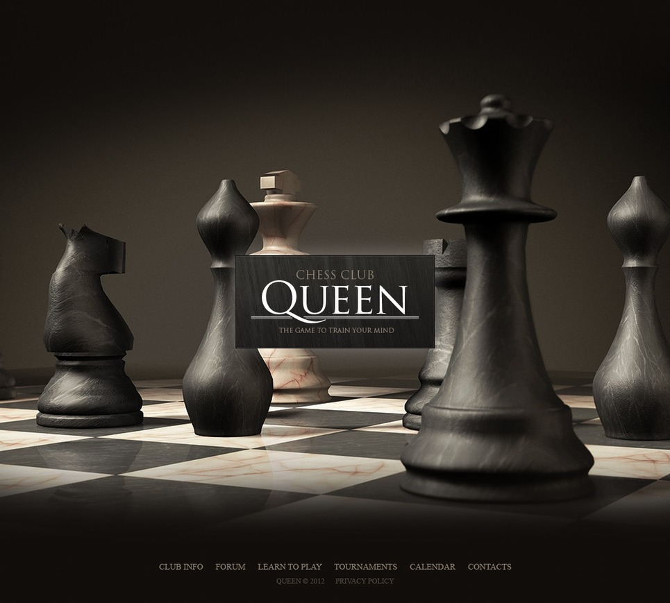 Chess Website Template New Screenshots BIG