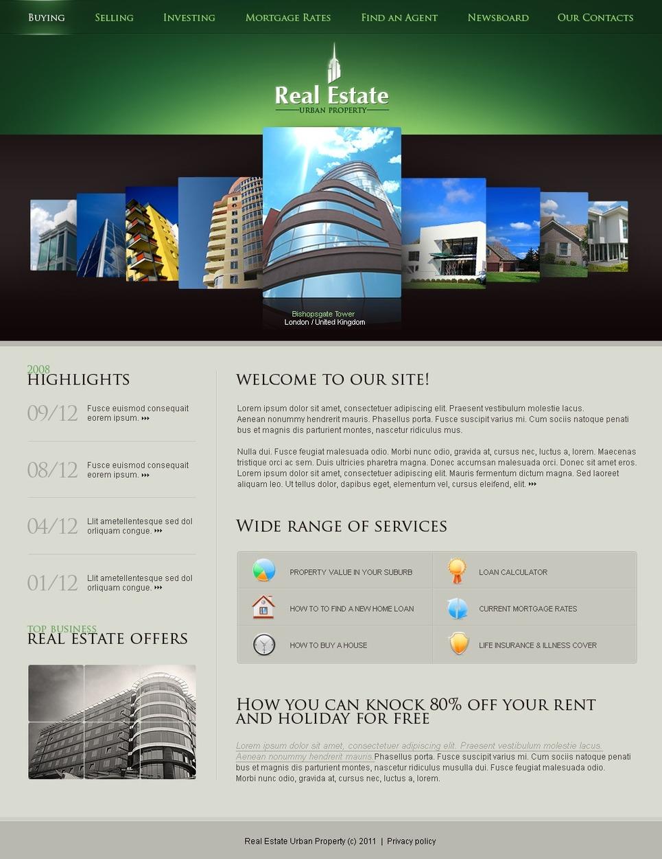 Real Estate Flash CMS Template New Screenshots BIG