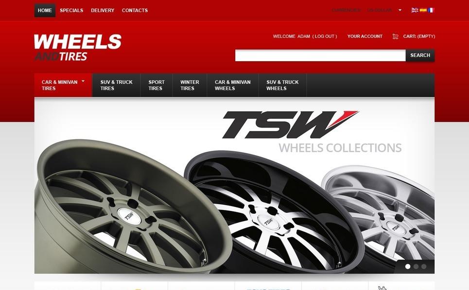 Perfect Wheels PrestaShop Theme New Screenshots BIG