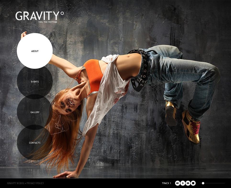 Dance Studio Flash Template New Screenshots BIG