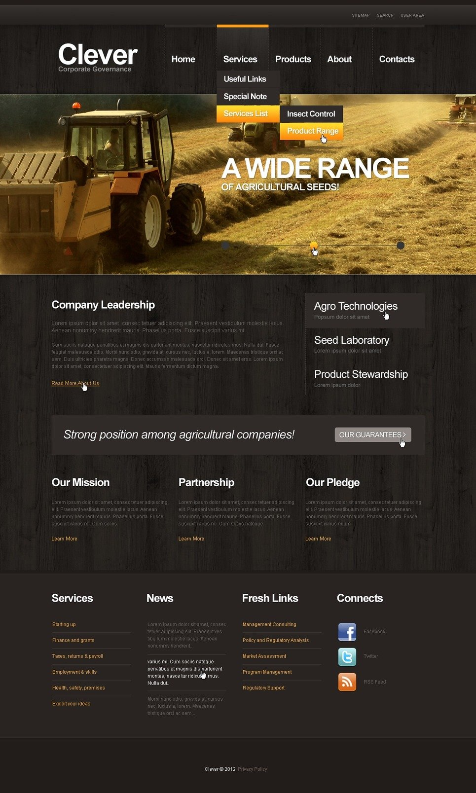 Agriculture Website Template New Screenshots BIG