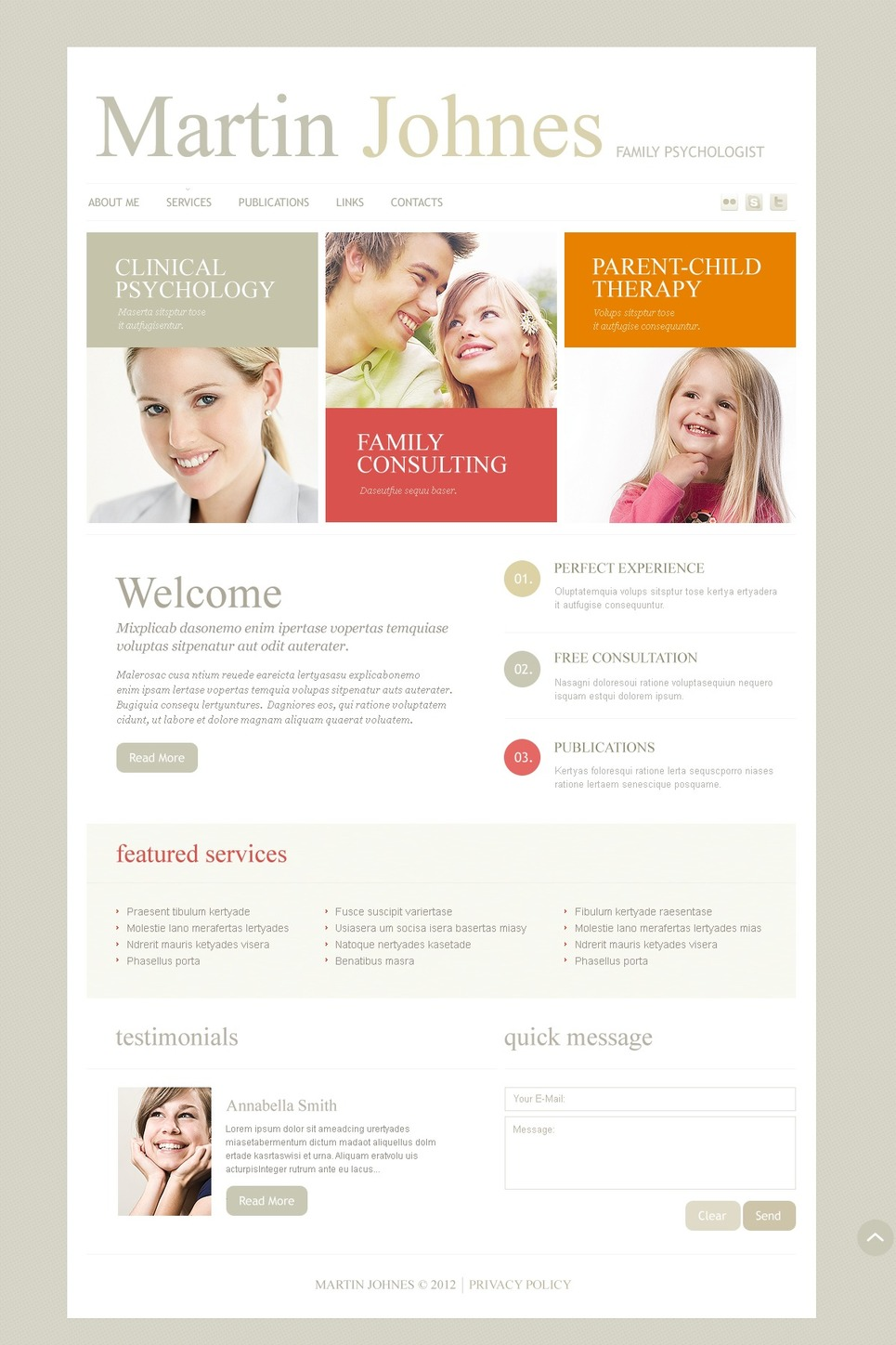 Psychologist Responsive Website Template New Screenshots BIG