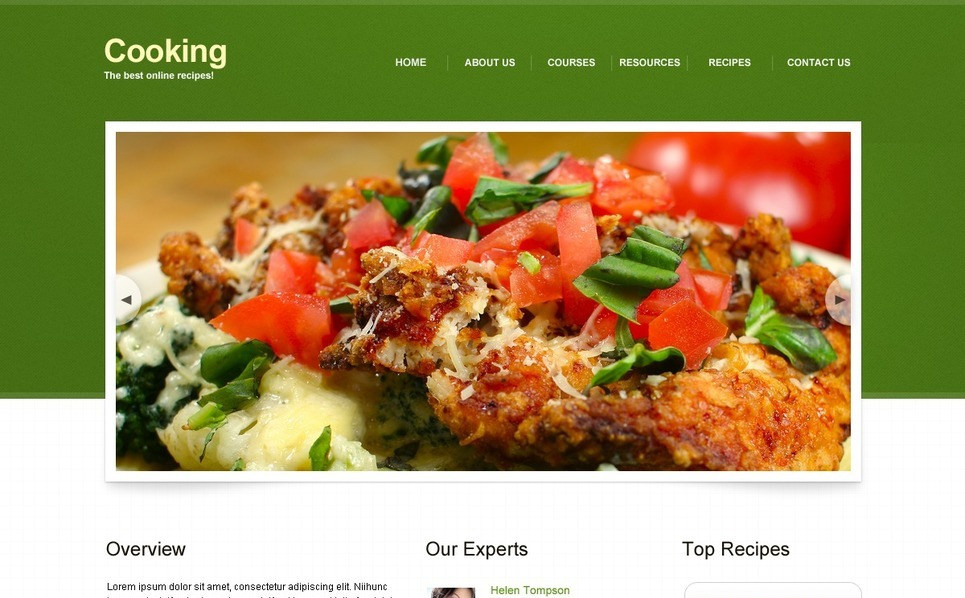 Cooking Website Template New Screenshots BIG