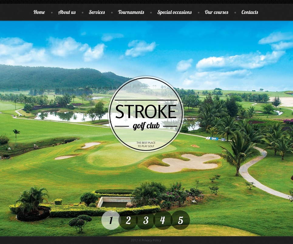 Golf Website Template New Screenshots BIG