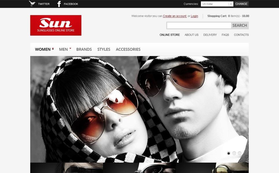 Sunglasses Store Magento Theme New Screenshots BIG