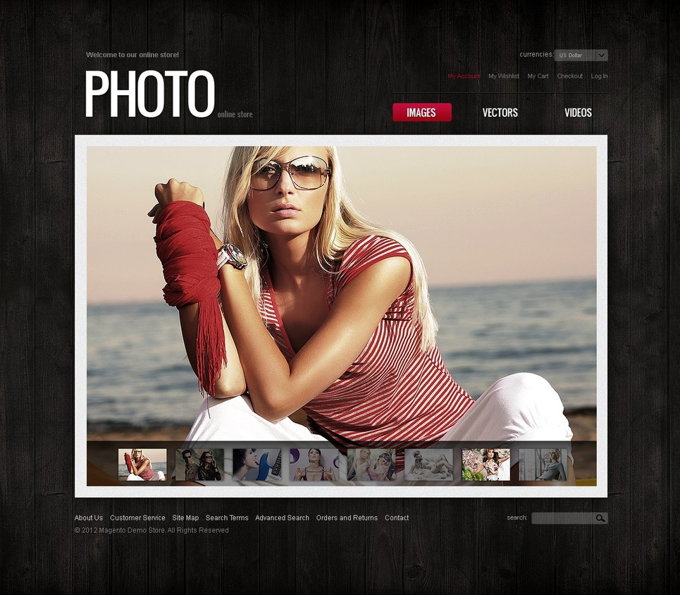 Expansive Photo Store Magento Theme
