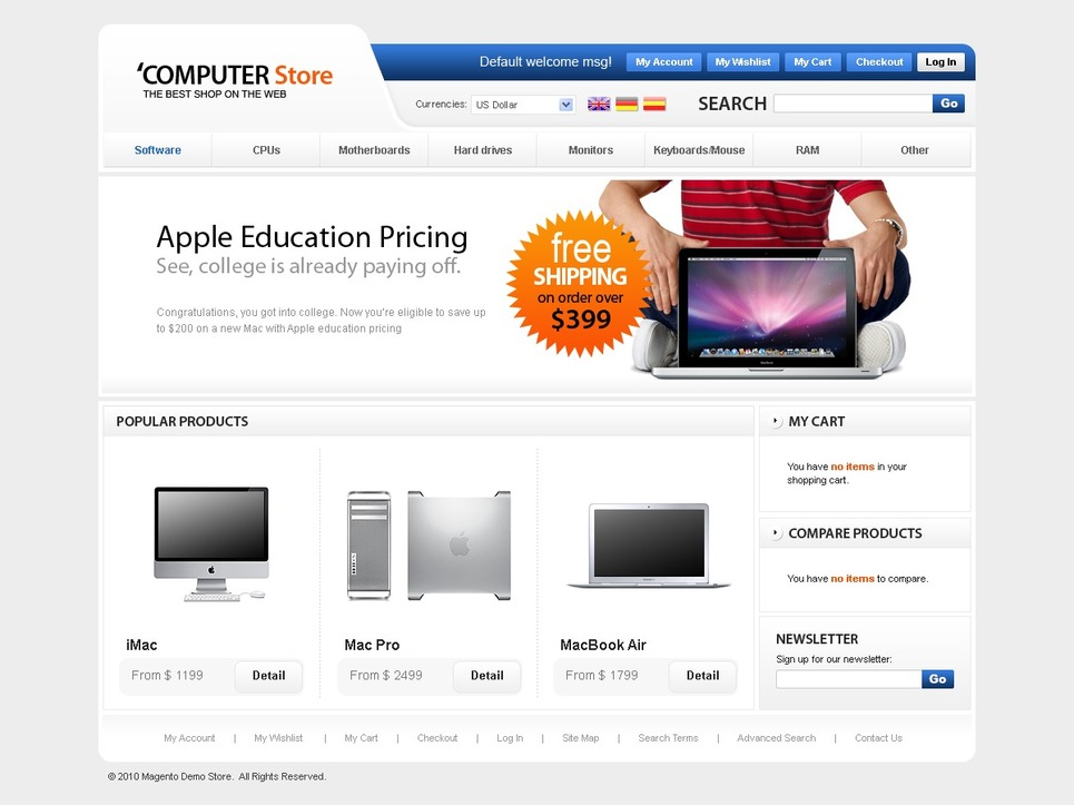 Computers Store Magento Theme New Screenshots BIG