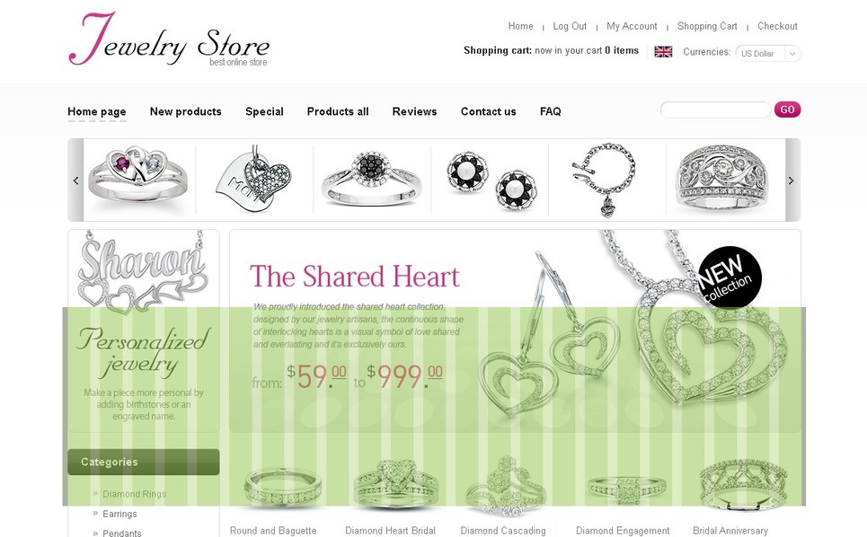Royal Jewelry OsCommerce Template New Screenshots BIG