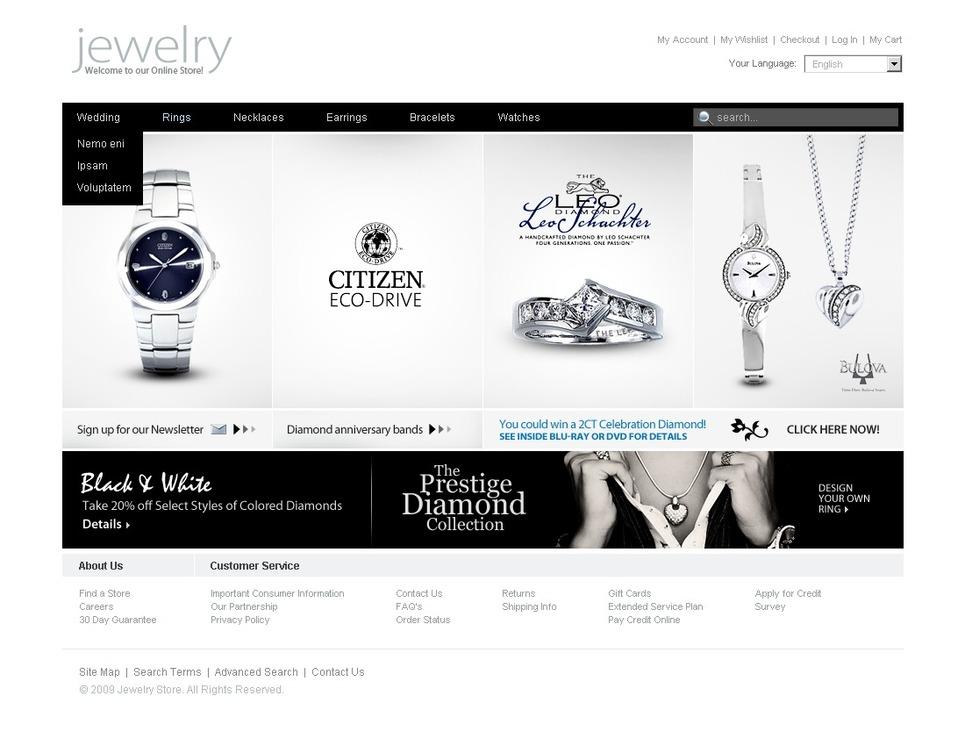 Diamond Jewelry Facebook Flash CMS Template New Screenshots BIG