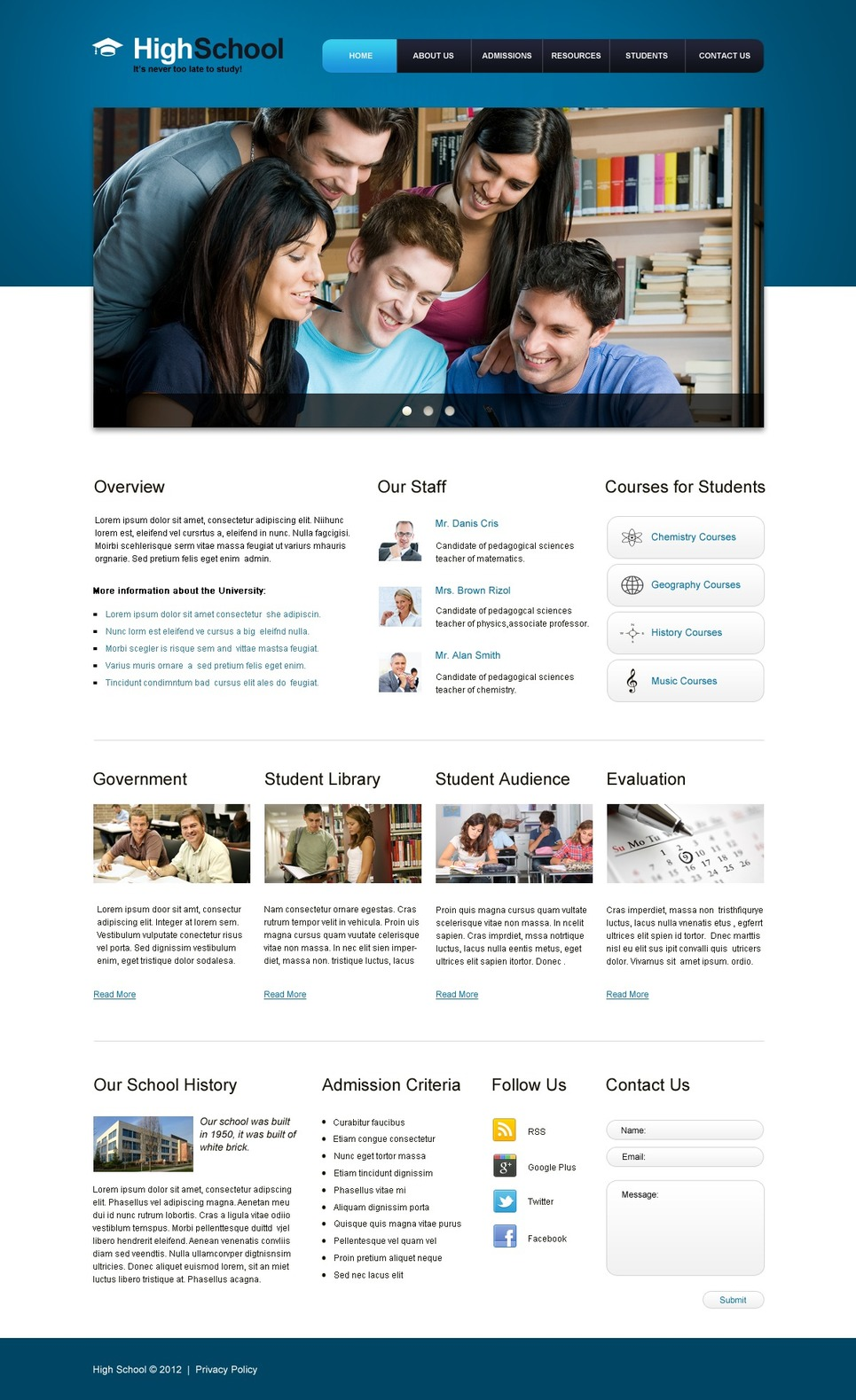 Education Website Template New Screenshots BIG