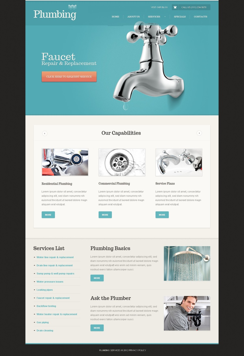 Plumbing Website Template New Screenshots BIG