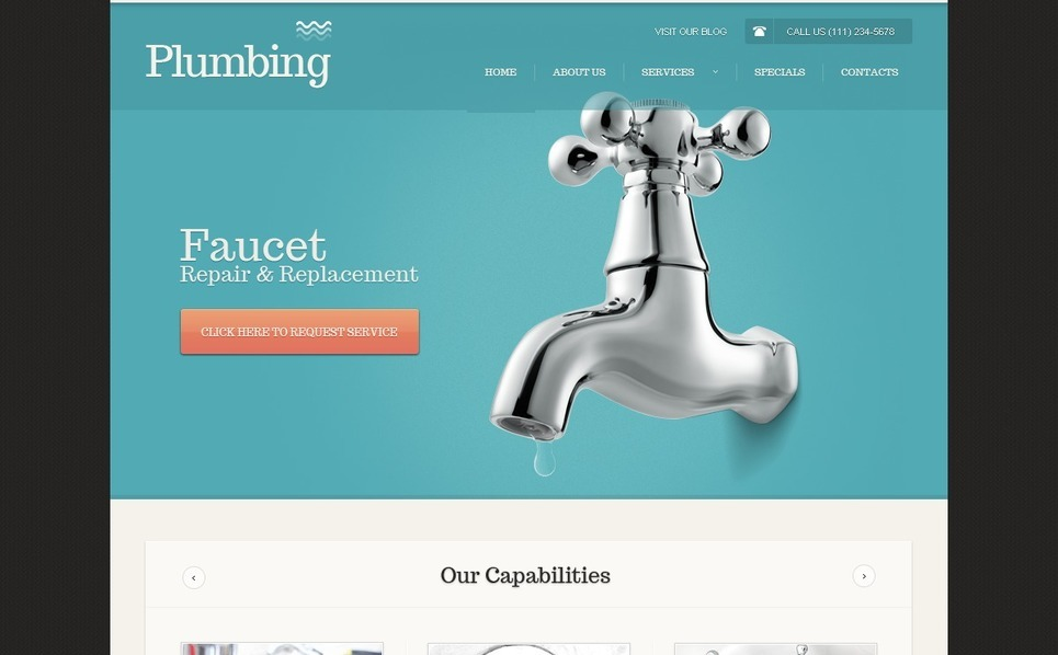 Plumbing Website Template New Screenshots BIG