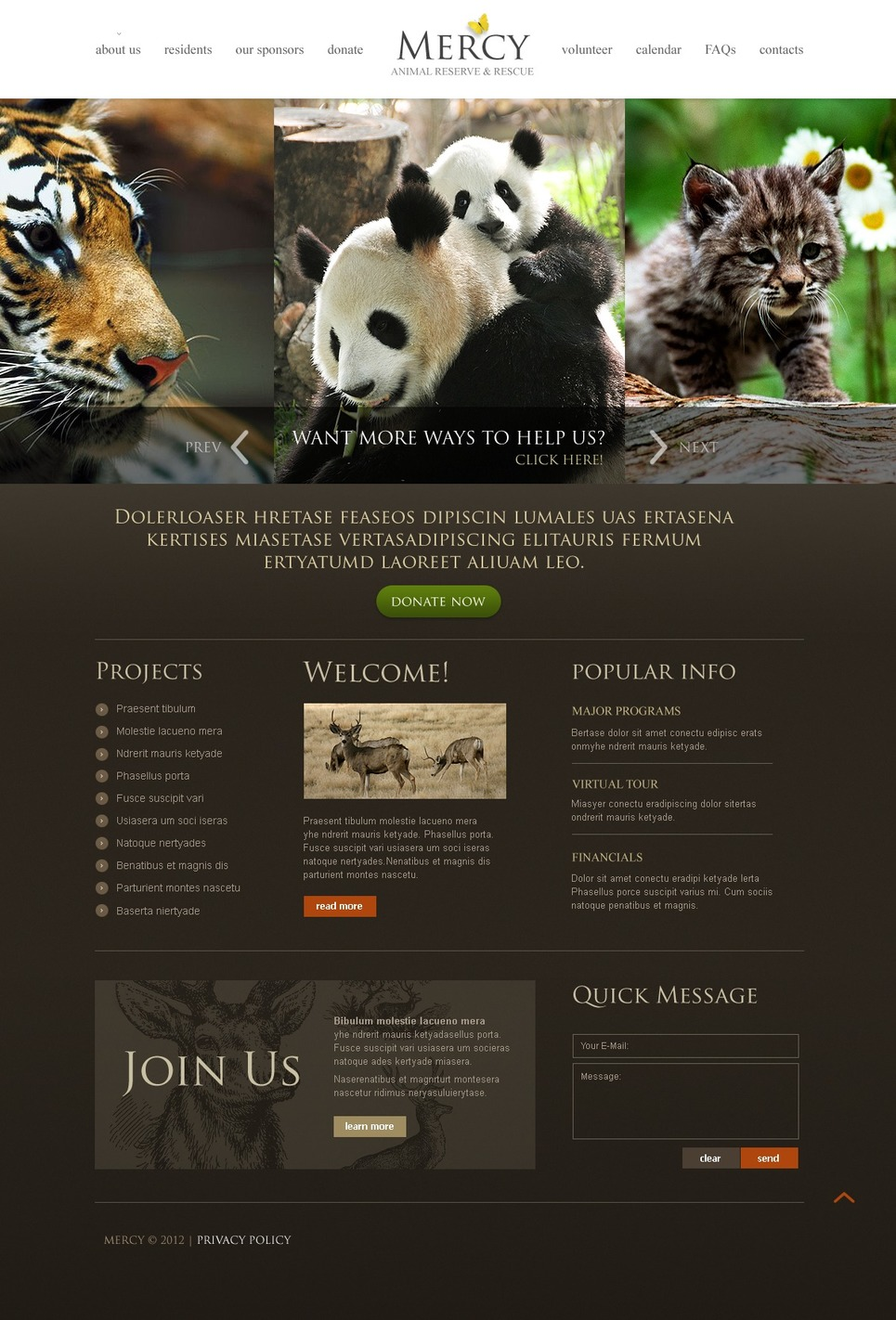 Animals & Pets Website Template New Screenshots BIG