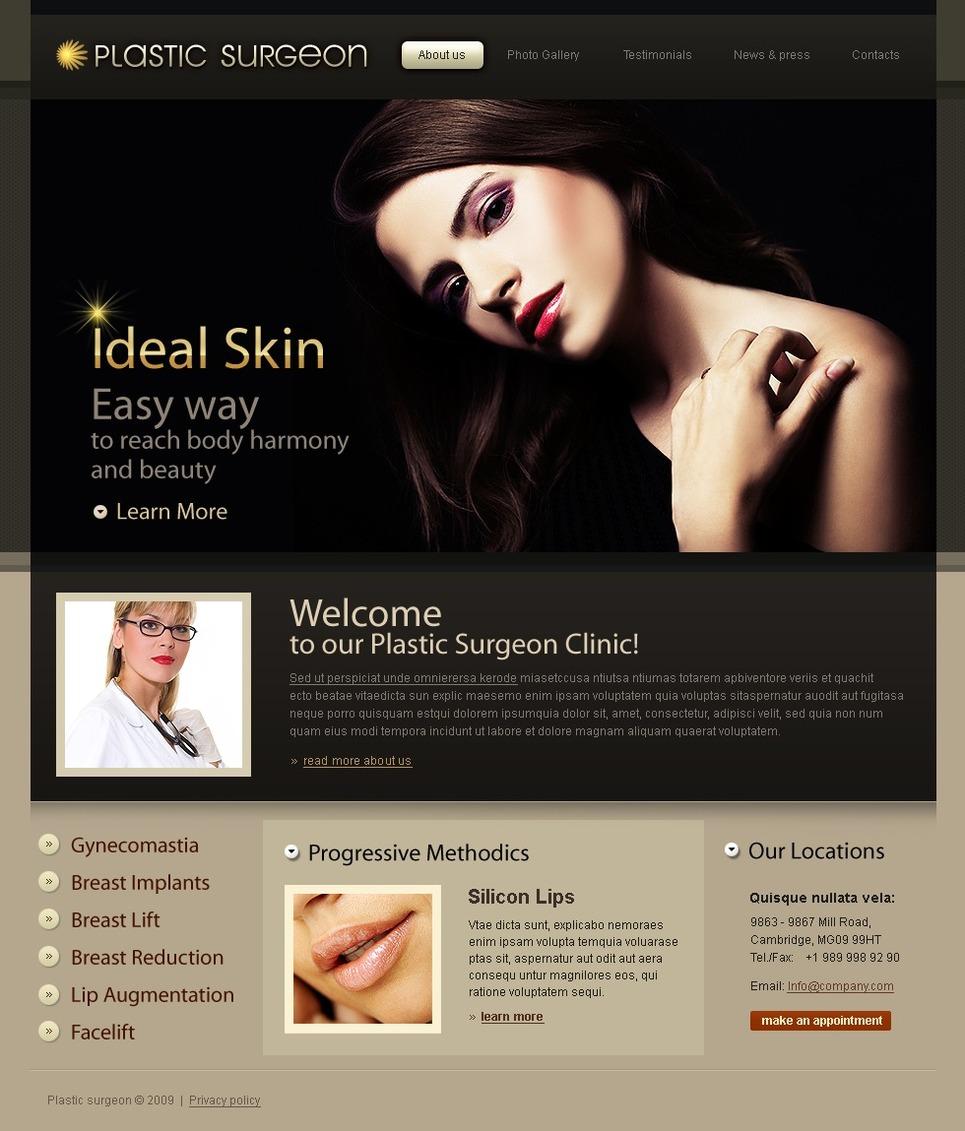 Plastic Surgery Flash CMS Template New Screenshots BIG