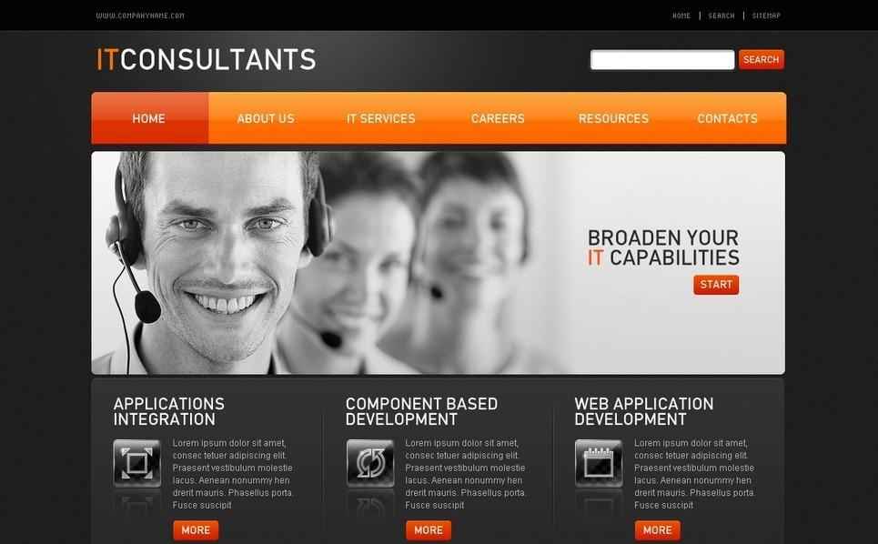Communications Flash CMS Template New Screenshots BIG