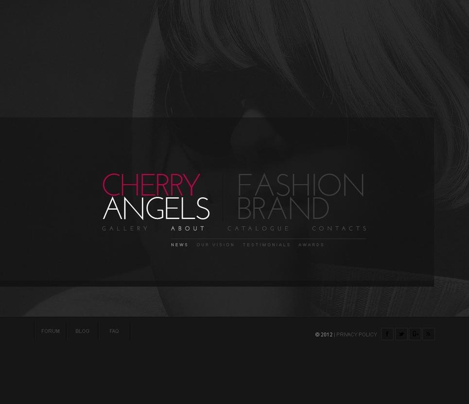 Fashion Flash CMS Template New Screenshots BIG