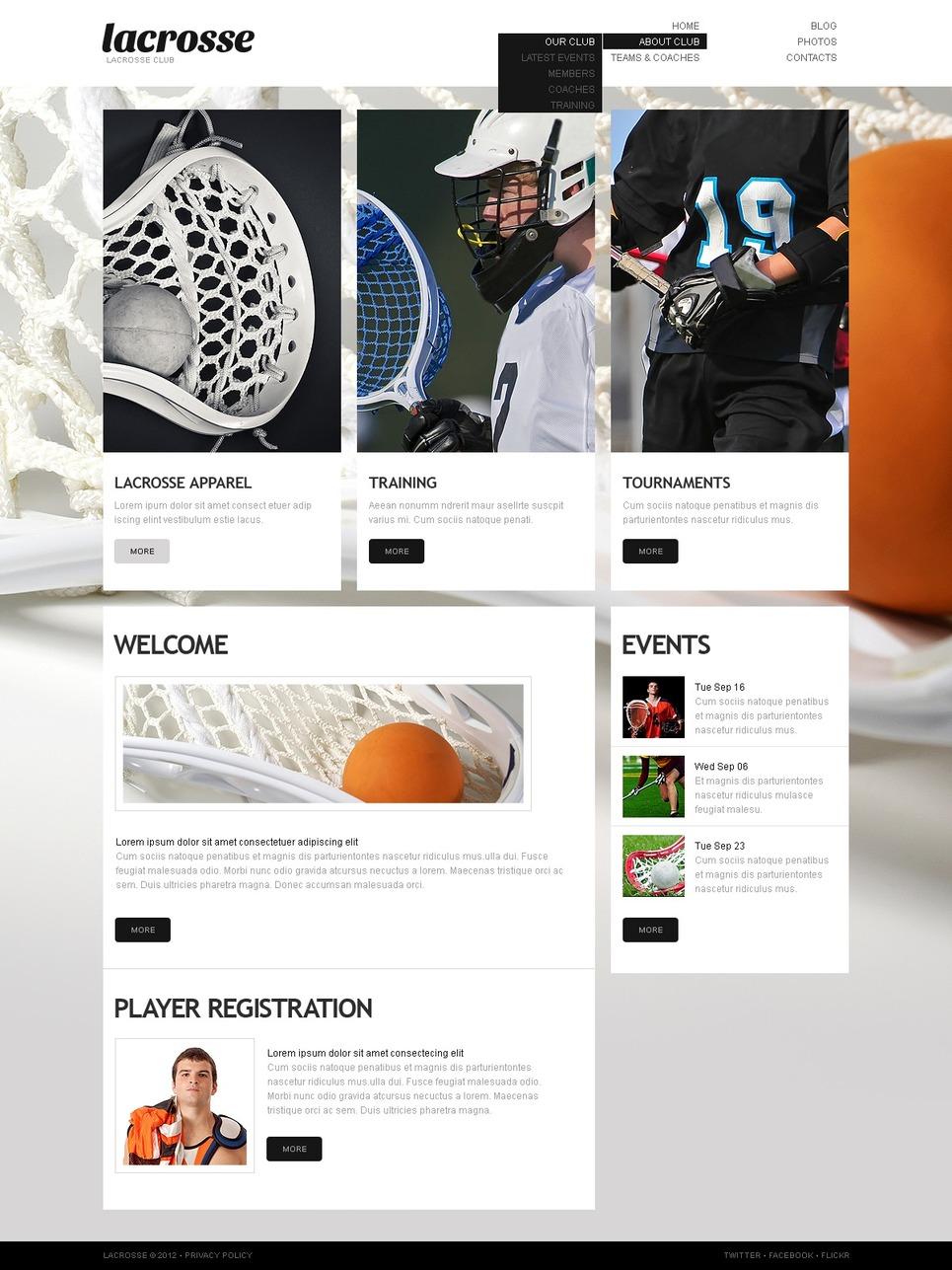 Sport WordPress Theme New Screenshots BIG