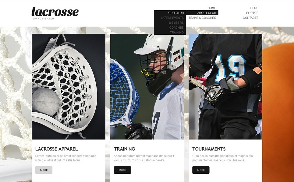 Sport WordPress Theme New Screenshots BIG