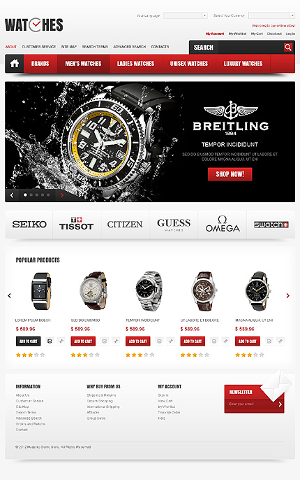 Watches - Brand Watches Magento Theme