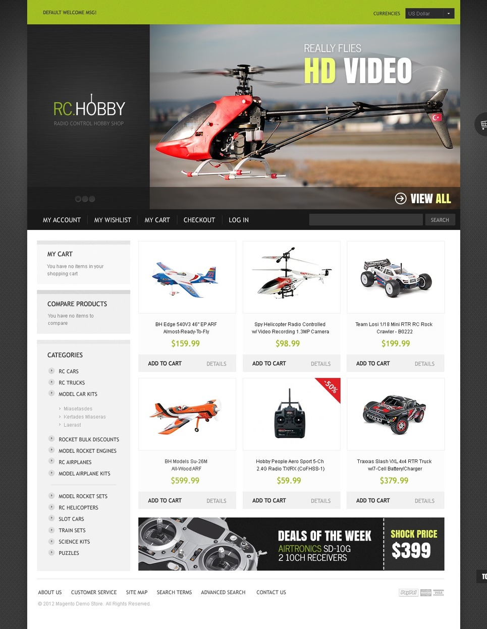 Radio Controlled Gadgets Magento Theme New Screenshots BIG