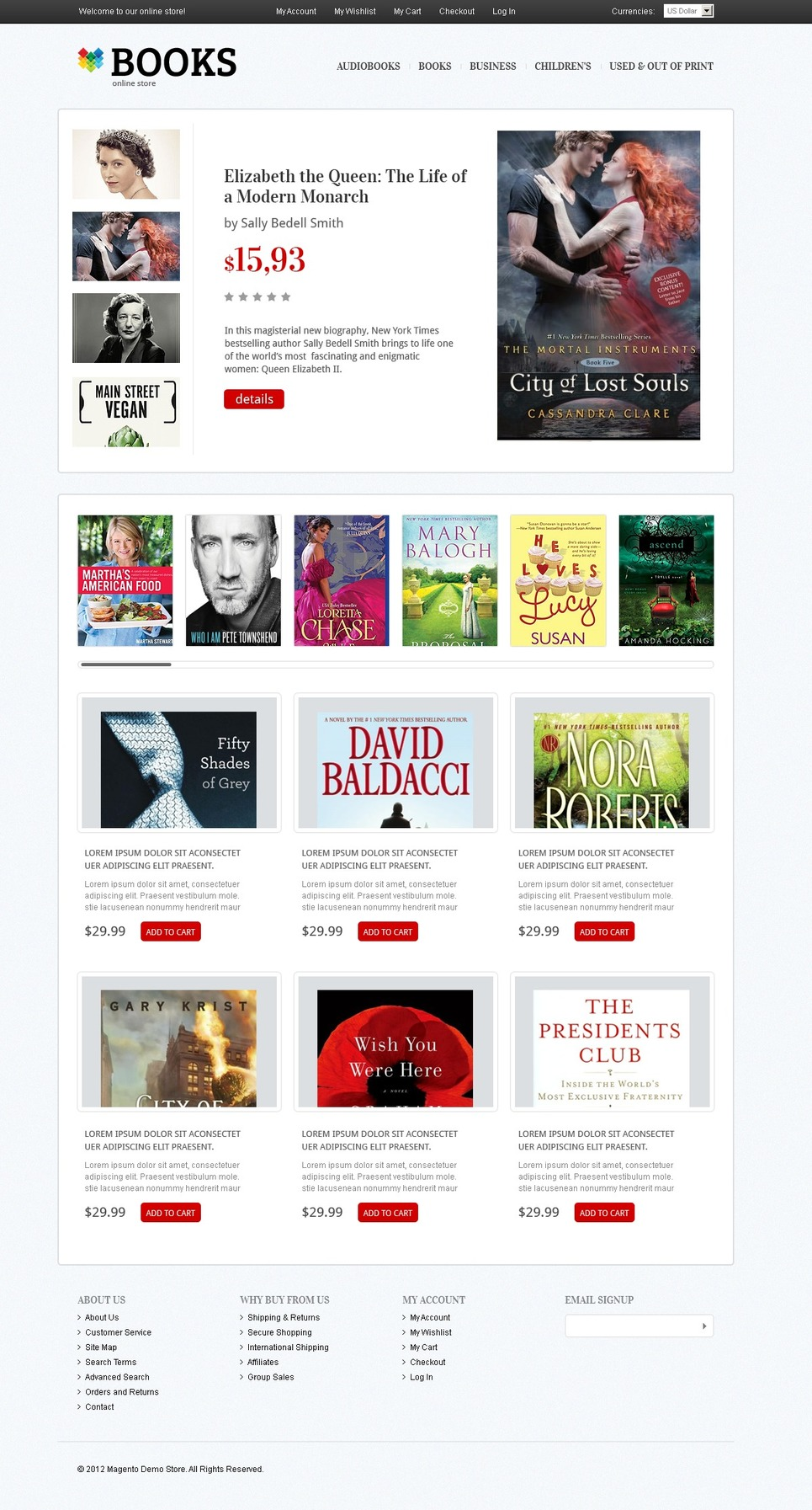 Foremost Books and Magazines Magento Theme