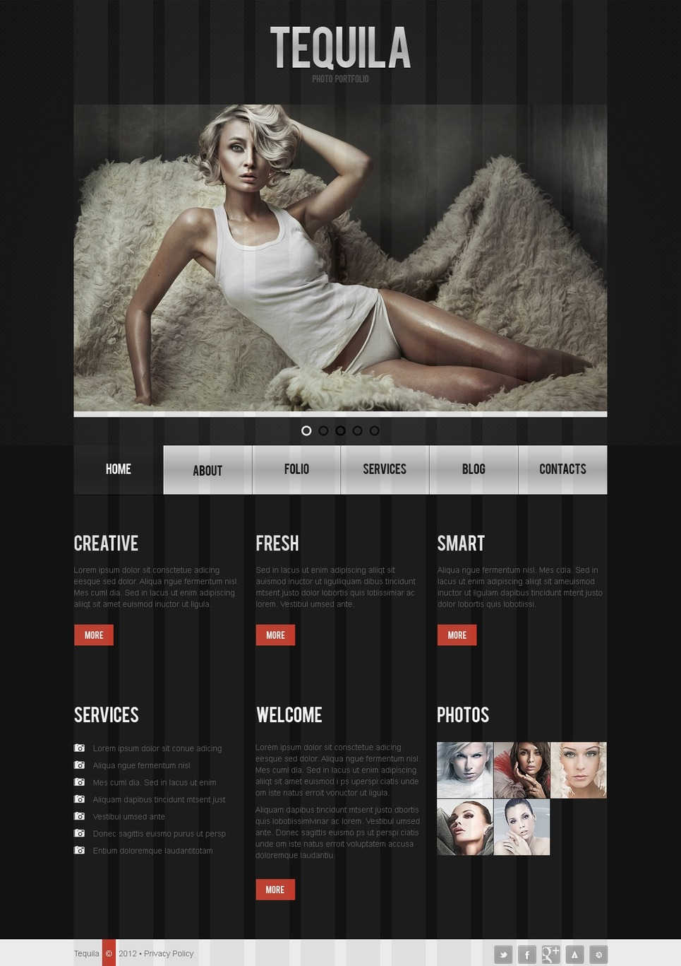 Photographer Portfolio Drupal Template New Screenshots BIG
