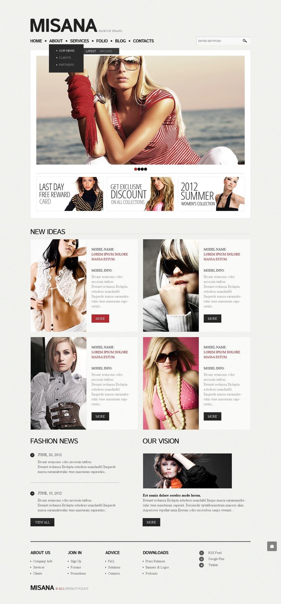 Fashion Drupal Template New Screenshots BIG