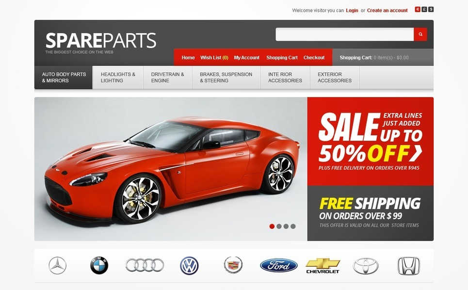 Auto Parts OpenCart Template New Screenshots BIG