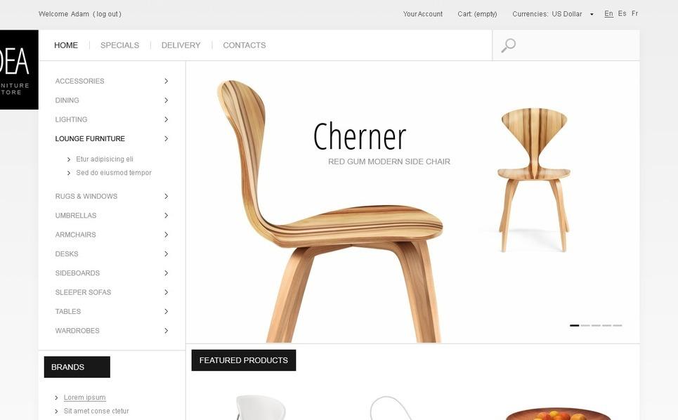 Furniture Store PrestaShop Theme New Screenshots BIG