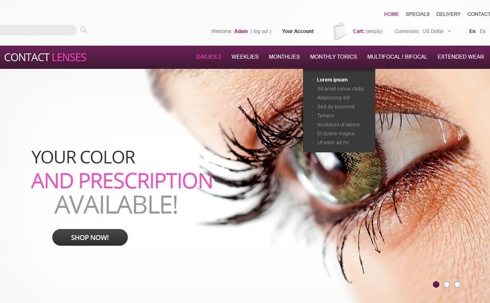 Contact Lenses PrestaShop Theme New Screenshots BIG