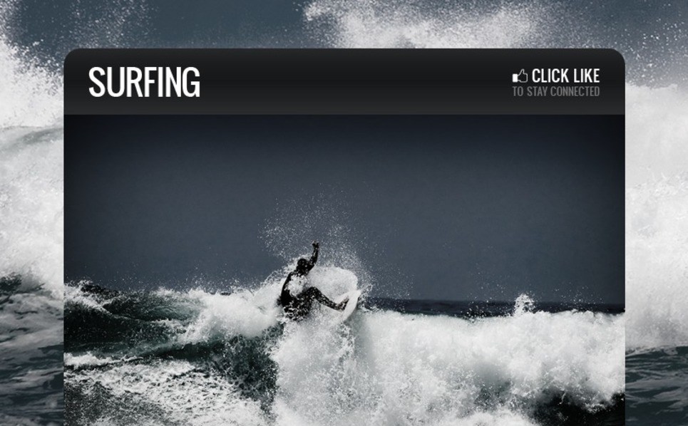 Surfing Facebook Template New Screenshots BIG