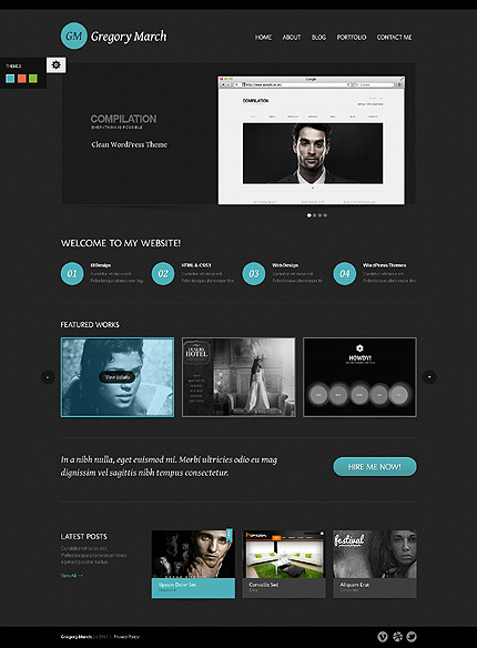 Gregory March - Best Photo Gallery WordPress Theme