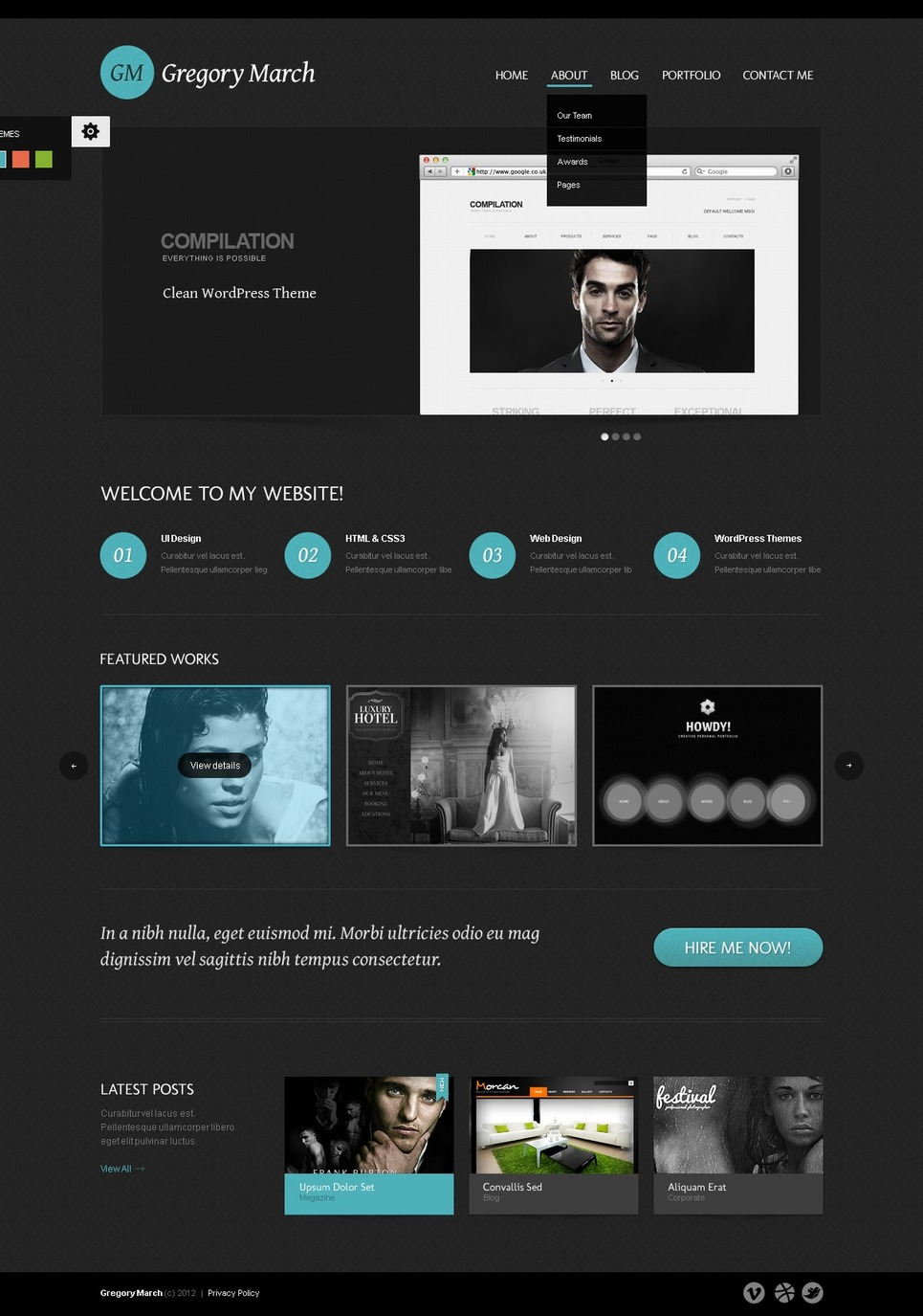 Photo Gallery WordPress Theme New Screenshots BIG