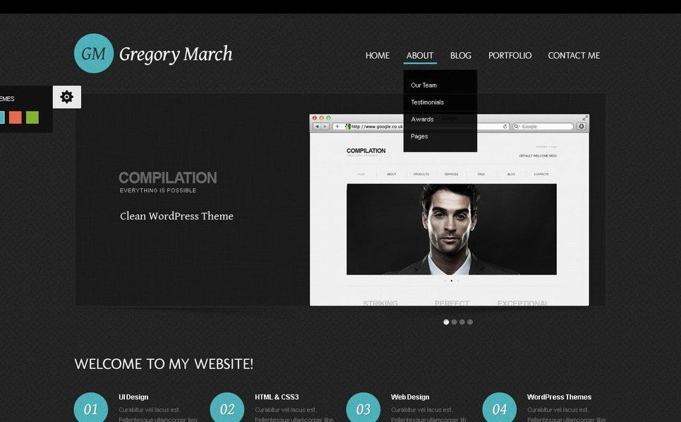 Photo Gallery WordPress Theme New Screenshots BIG