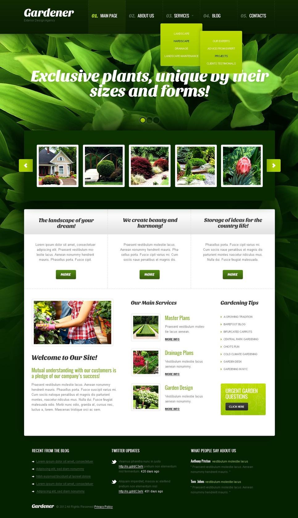 Exterior Design WordPress Theme New Screenshots BIG