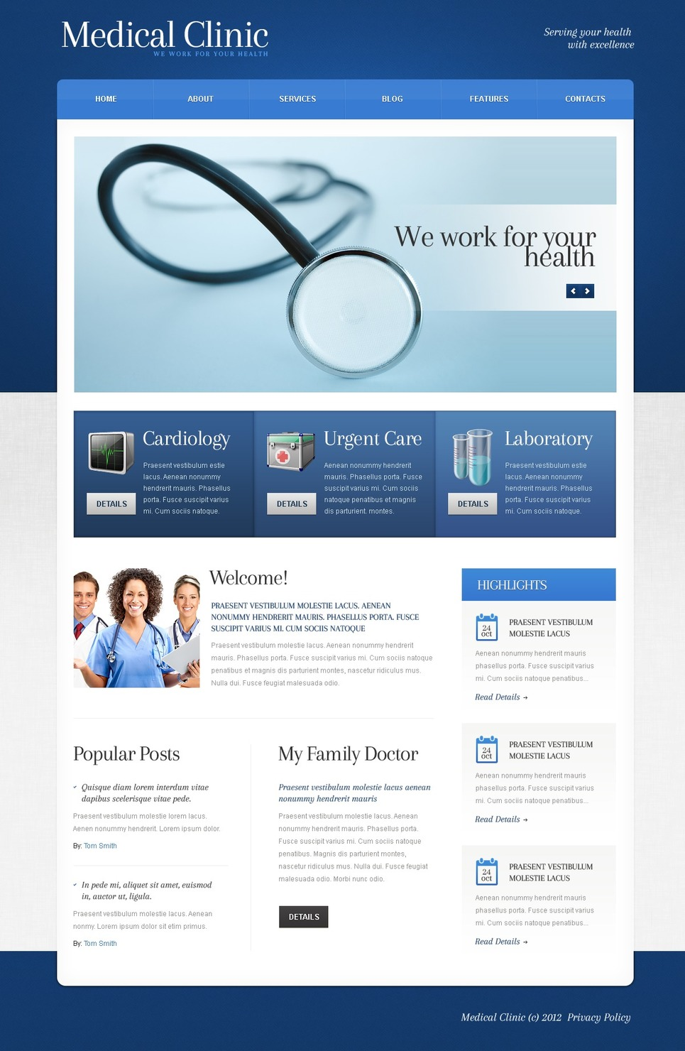 Medical WordPress Theme New Screenshots BIG