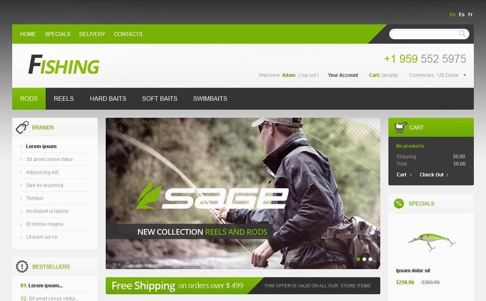 Fishing Store PrestaShop Theme New Screenshots BIG