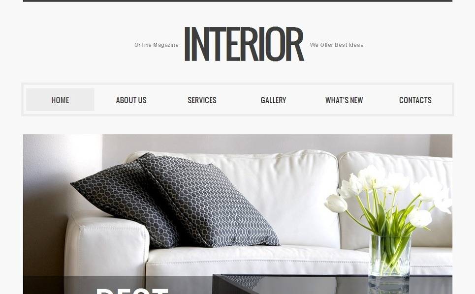 Interior Design Moto CMS HTML Template New Screenshots BIG