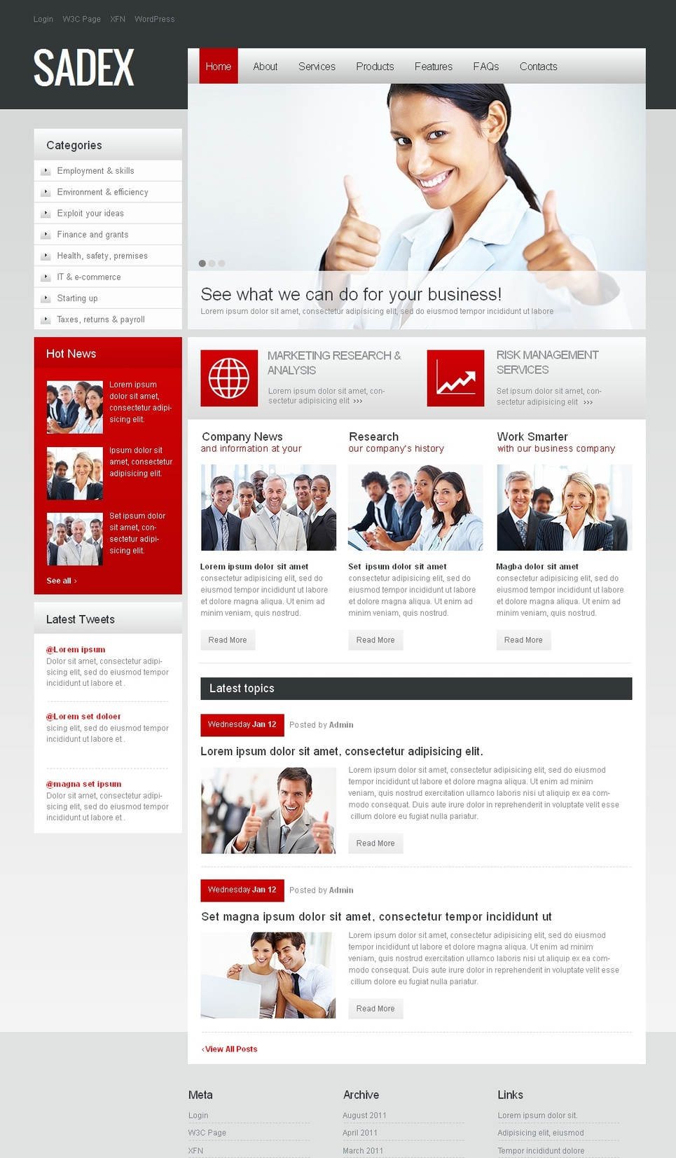 Business Website Template with Bright Design Accents - image