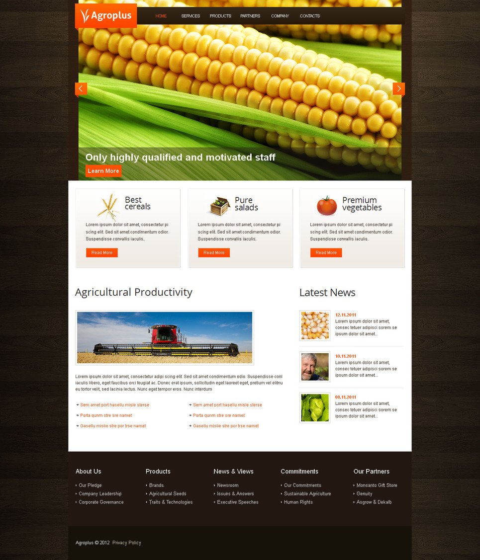 Agriculture Website Template for Better Farming - image