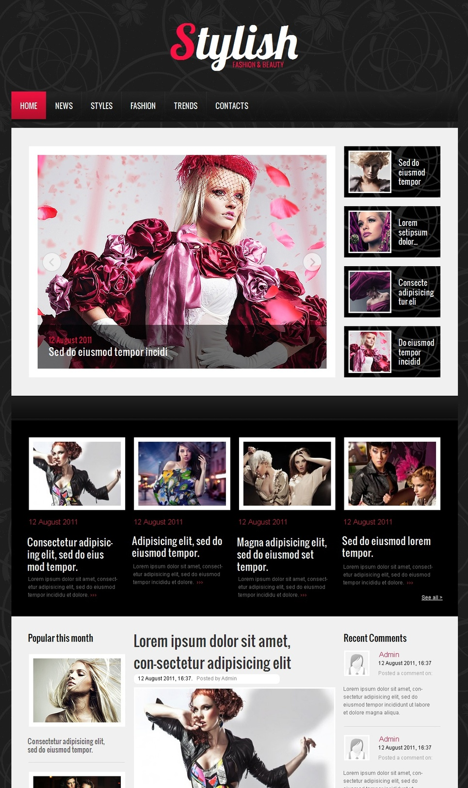 Apparel Website Template with Textured Background - image