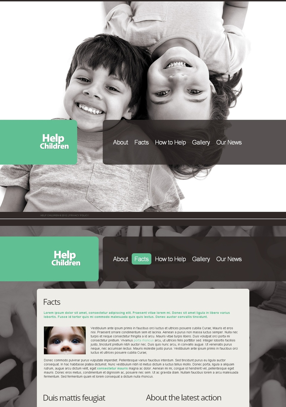 Charity Website Template to Help Children - image