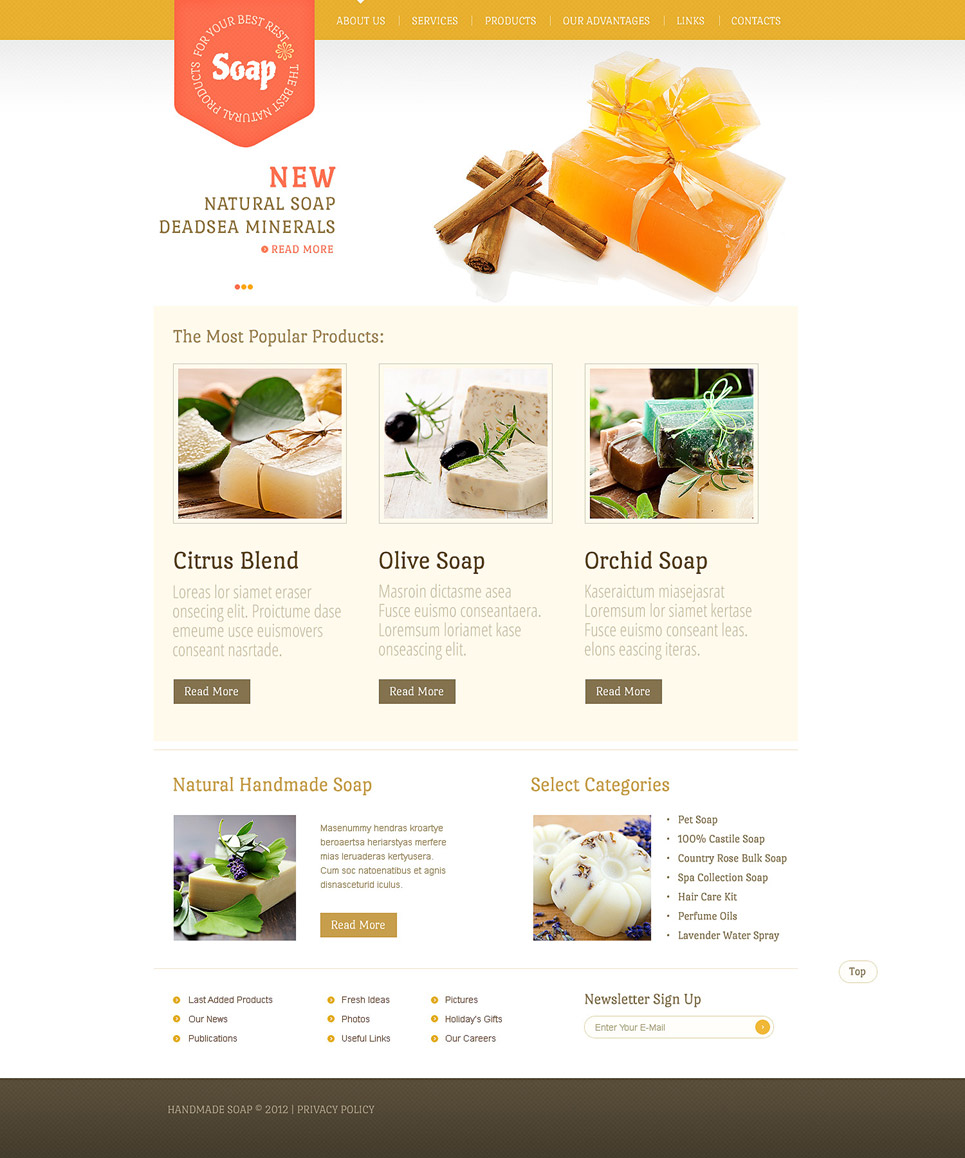 Cosmetics Store Website Template New Screenshots BIG