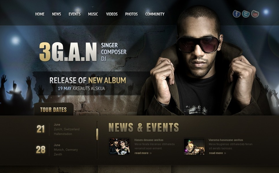 Singer Website Template New Screenshots BIG