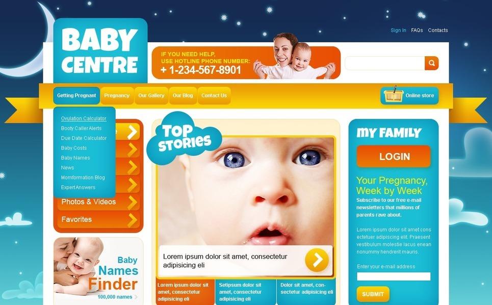 Family Center Joomla Template New Screenshots BIG