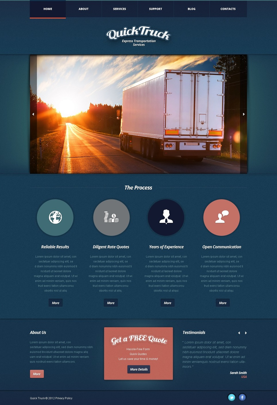 Trucking Joomla Template New Screenshots BIG