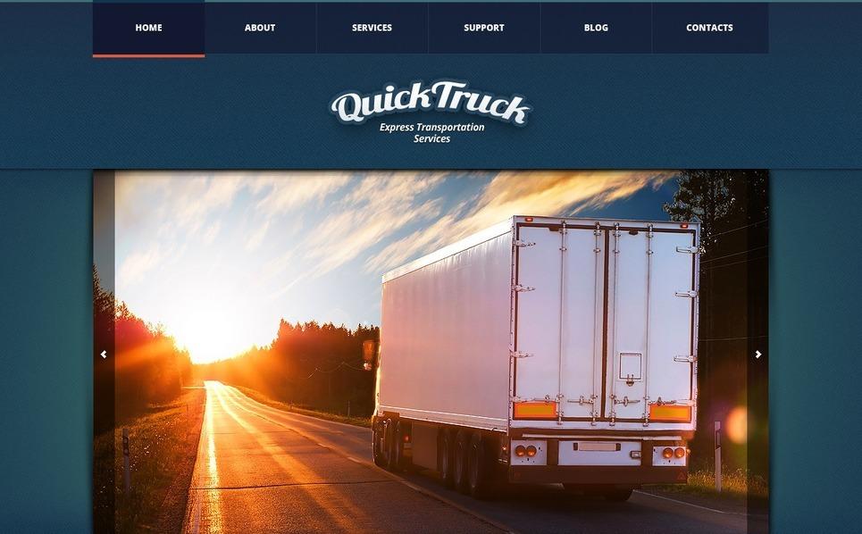 Trucking Joomla Template New Screenshots BIG