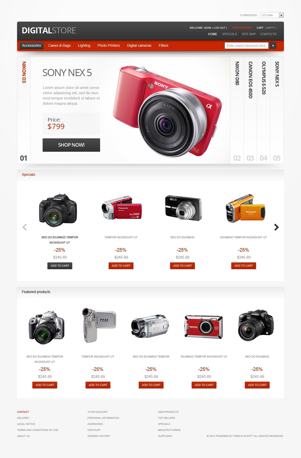 Digital Devices Magento Theme New Screenshots BIG