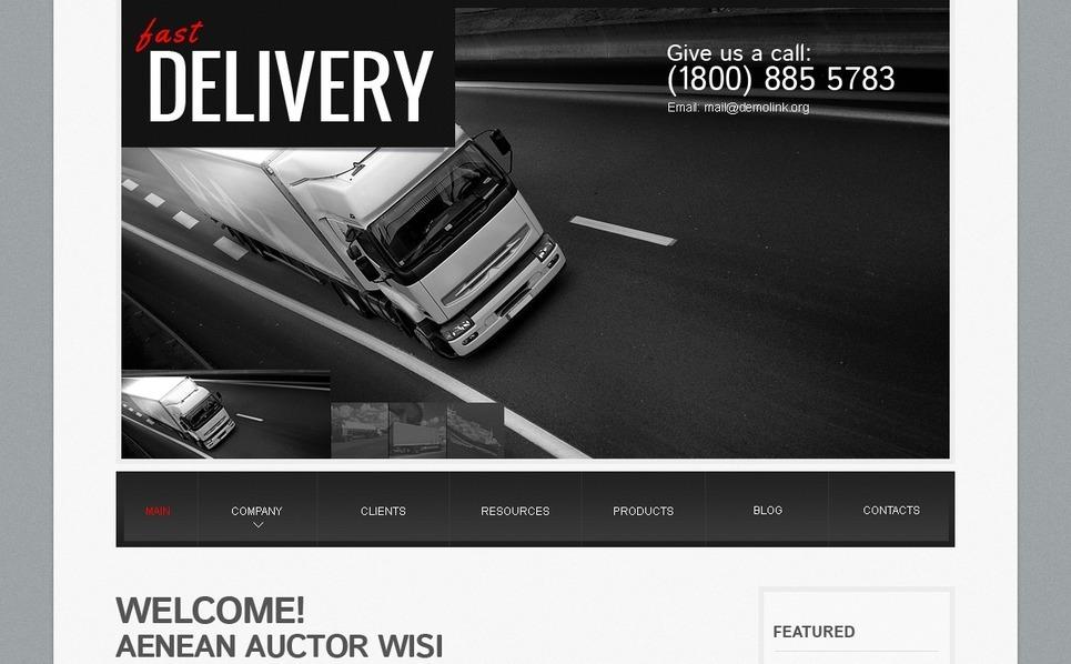 Transportation WordPress Theme New Screenshots BIG