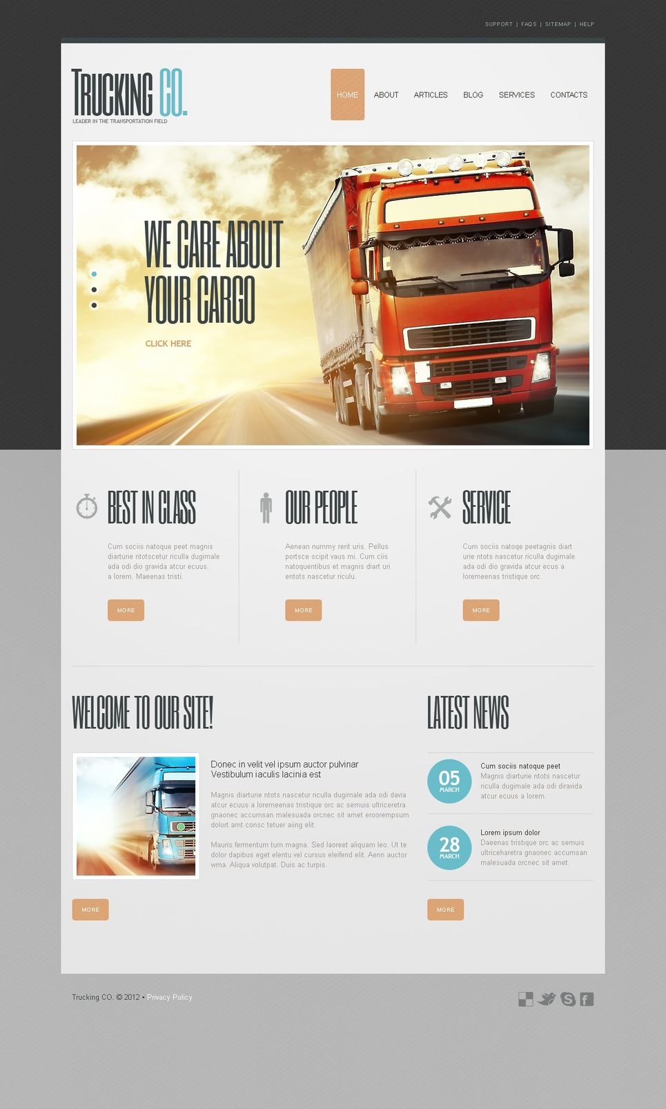 Transportation Joomla Template New Screenshots BIG